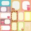 Collection of tags for scrapbooking — Stock vektor