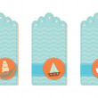 Stock Vector: Marine tags collection