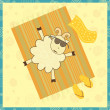 Sunbathing sheep — Stock Vector