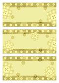 Kolekce pohlednic horizontální květina — Stock vektor