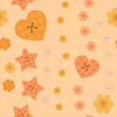 Romantic little buttons seamless pattern — Vector de stock