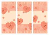 Collection of vertical Valentine cards — Stock Vector