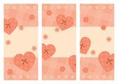 Coleção de cartões de valentine vertical — Vetor de Stock