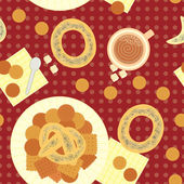Seamless pattern for lunch — Stock Vector