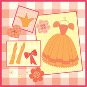 Greeting card for little princess — Cтоковый вектор