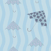 Seamless patern with umbrellas — Stock Vector