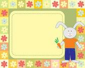 Kid's frame with little rabbit — Stock Vector