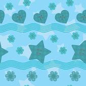 Kleinen sternen schaltflächen nahtlose muster — Stockvektor