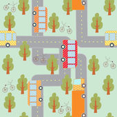City traffic seamless pattern — Stock Vector