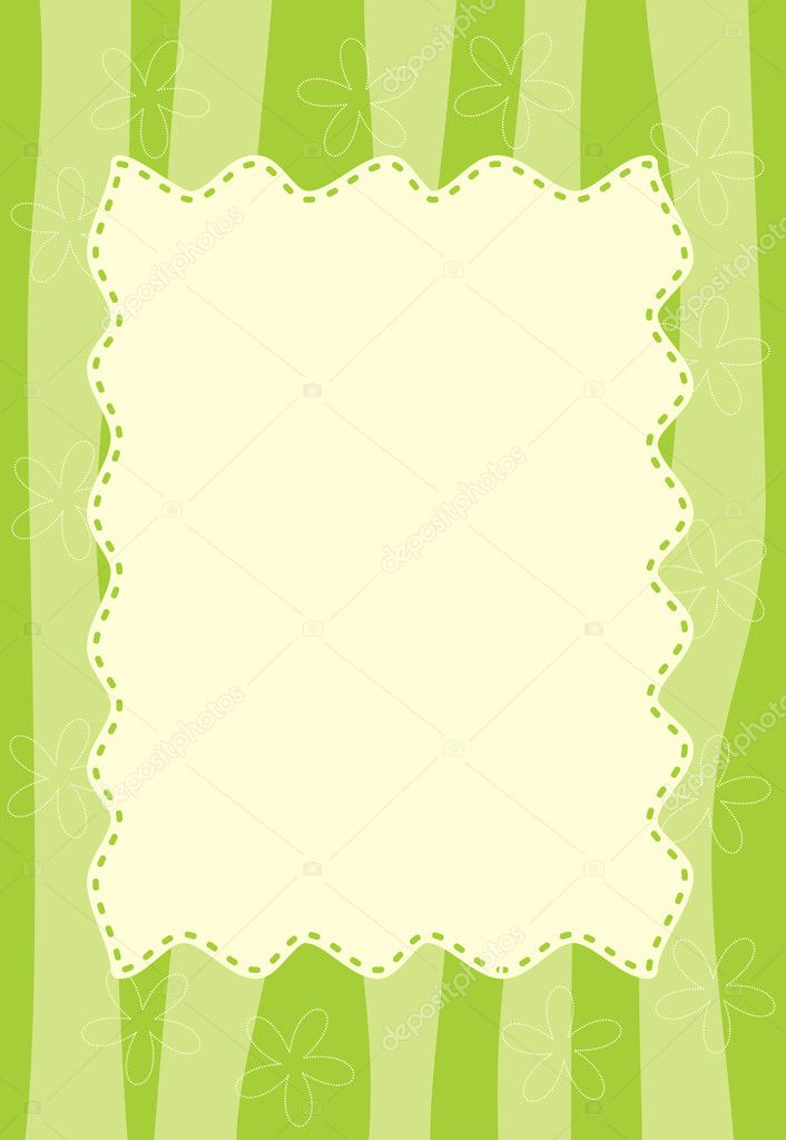 Green striped frame  Stock Vector #10535463