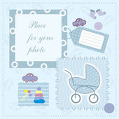 Frame for baby's photo — Stock Vector