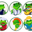 Frogs.Professions — Stock Vector