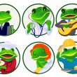 Royalty-Free Stock Vector Image: Frogs.Professions