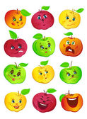 Funny apples — Vector de stock