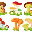 Royalty-Free Stock Vectorielle: Mushrooms