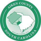 Aiken county seal — Stock Vector