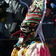 Mummer mask and costume — Stock Photo