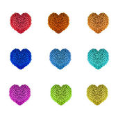 Beads Hearts — Stock Photo