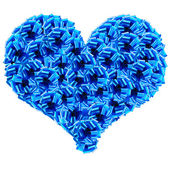 Blue Cockades Heart — Stock Photo
