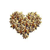 Golden Cockades Heart — Stock Photo