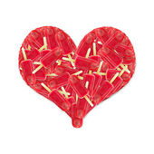 Red Ice Lollies Heart — Stock Photo