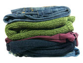 Pile of Clothes Isolated — Stock Photo