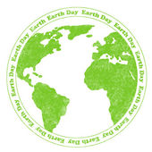 Earth Day Rubber Stamp — Stock Photo