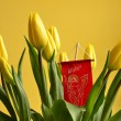 Bouquet of tulips in spirit of Easter — 图库照片 #10448647