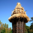 Stock Photo: Wickerwork - large basket with thatched roof