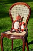 Wickerwork - basket-chair — Stock Photo