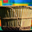 Wickerwork - basket of reeds — Stock Photo