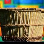 Wickerwork - basket of reeds — Stock Photo #9816873