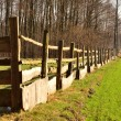 The fence around the pasture. — Stock Photo