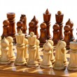 Royalty-Free Stock Photo: Isolated set of chess figurines on playing board