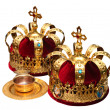 Stock Photo: Two Orthodox Wedding Ceremonial Crowns