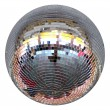 Silver night club lighting  mirror-ball — Stock Photo