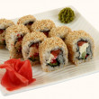 Traditional japaneese cuisine meal sushi — Stock Photo