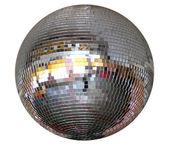 Silver night club lighting mirror-ball — Stock Photo