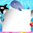 Royalty-Free Stock Векторное изображение: Sea life cartoon