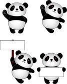 Funny panda cartoon — Stock Vector