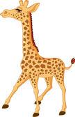 Giraffe cartoon — Stock Vector