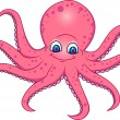 Stock Vector: Funny Octopus Cartoon