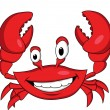Funny crab cartoon — Image vectorielle