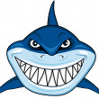 Stock Vector: Smiling shark