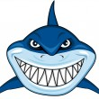 Smiling shark — Stock Vector