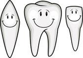 Tooth Cartoon — Stock Vector
