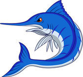 Blue Marlin Cartoon — Stock Vector