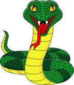 Angry snake — Stock Vector