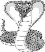 Angry Cobra Cartoon — Stock Vector