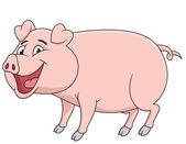 Мультфильм свиньи — Cтоковый вектор